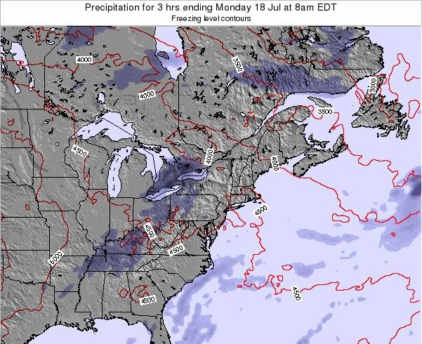 Delaware Precipitation for 3 hrs ending Monday 27 May at 2pm EDT