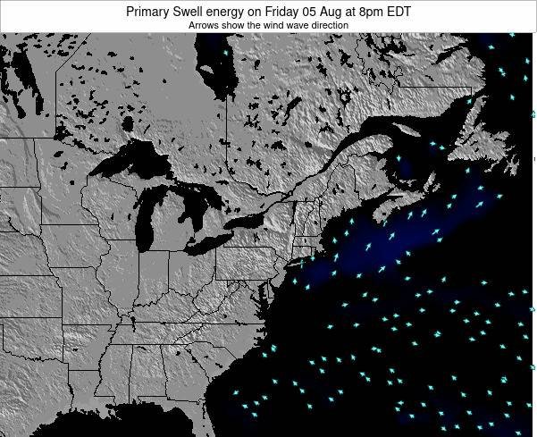 Delaware Primary Swell energy on Tuesday 25 Jun at 8am EDT