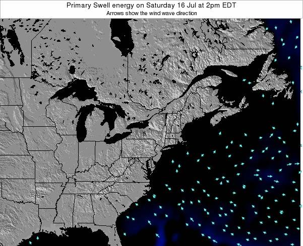 Delaware Primary Swell energy on Thursday 20 Jun at 8am EDT