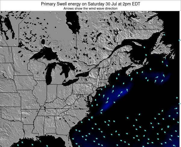 Maryland Primary Swell energy on Friday 24 May at 2am EDT