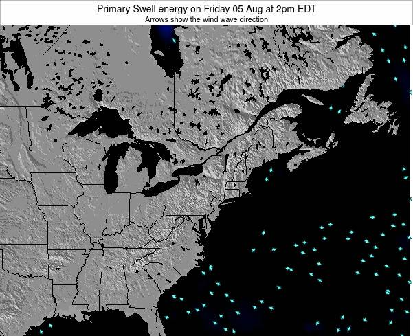 New-York Primary Swell energy on Tuesday 28 May at 2pm EDT