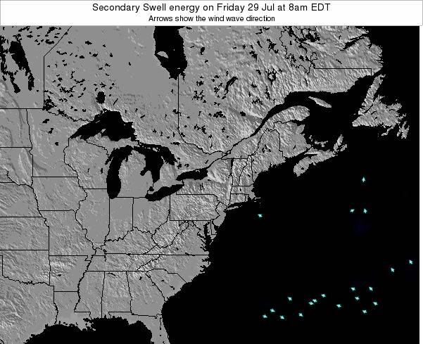 Delaware Secondary Swell energy on Friday 15 Dec at 7am EST map