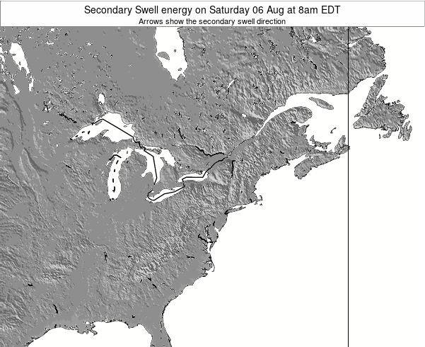 Delaware Secondary Swell energy on Thursday 23 May at 8pm EDT