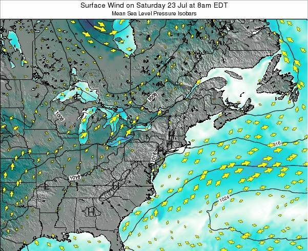Maryland Surface Wind on Sunday 23 Jun at 2am EDT