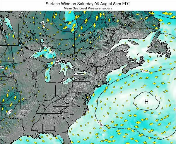 Maryland Surface Wind on Monday 28 Apr at 2am EDT