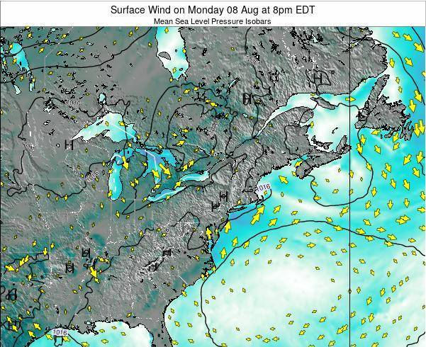 Maryland Surface Wind on Wednesday 01 Mar at 1pm EST