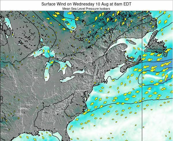 Maryland Surface Wind on Friday 13 Dec at 7pm EST