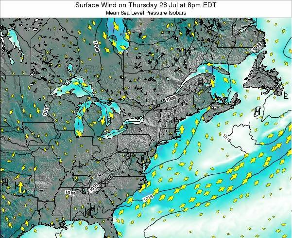 Maryland Surface Wind on Saturday 02 Aug at 8am EDT