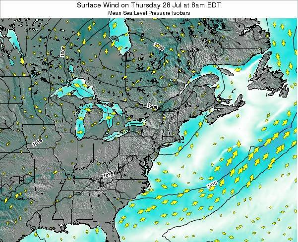 Maryland Surface Wind on Tuesday 28 May at 8pm EDT