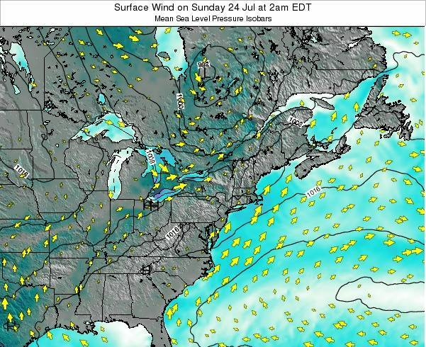 Maryland Surface Wind on Wednesday 26 Nov at 1am EST