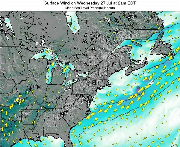 Delaware Surface Wind on Monday 27 May at 8pm EDT