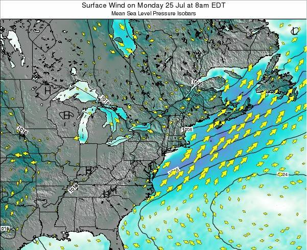 Maryland Surface Wind on Tuesday 28 May at 2pm EDT