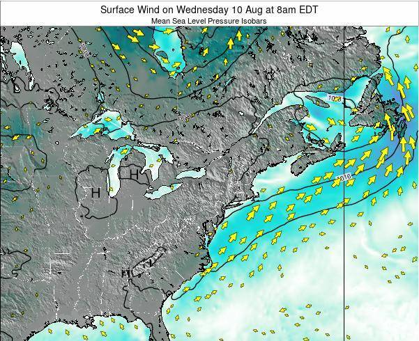 Delaware Surface Wind on Thursday 30 May at 8am EDT