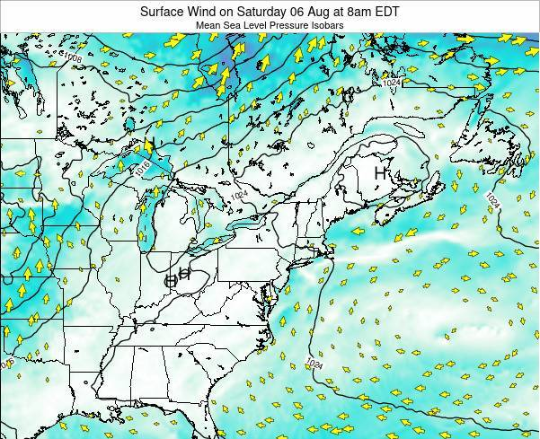 Rhode-Island Surface Wind on Wednesday 29 May at 8am EDT map