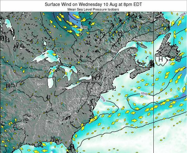 Maryland Surface Wind on Tuesday 25 Jun at 8am EDT