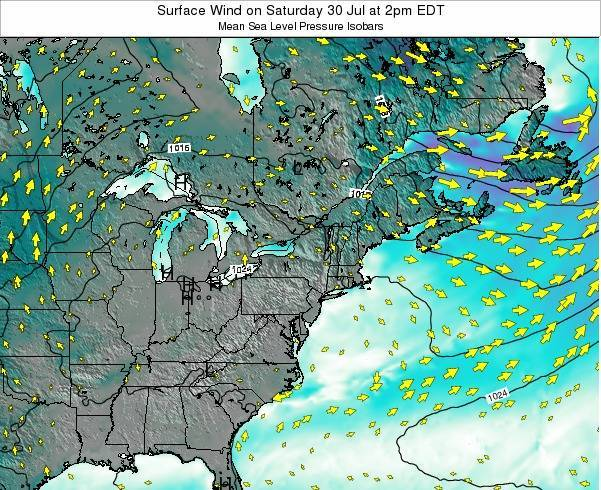 Maryland Surface Wind on Thursday 01 May at 2am EDT