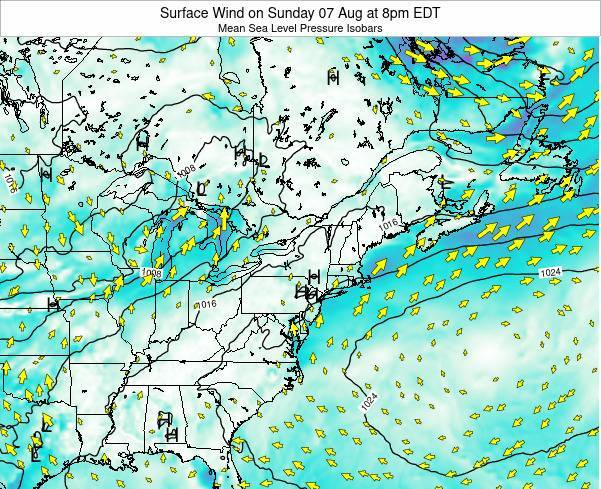 Maryland Surface Wind on Monday 04 Aug at 8pm EDT