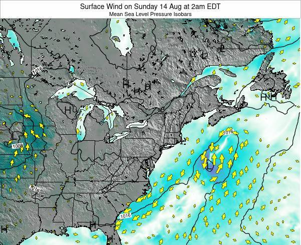 Maryland Surface Wind on Sunday 15 Dec at 7am EST