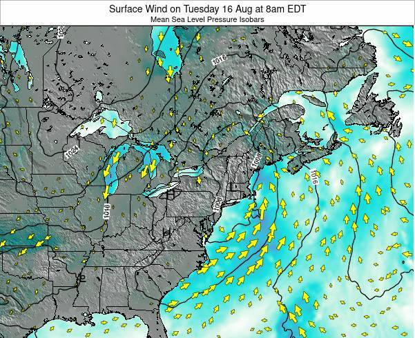 Rhode-Island Surface Wind on Wednesday 30 Apr at 8pm EDT