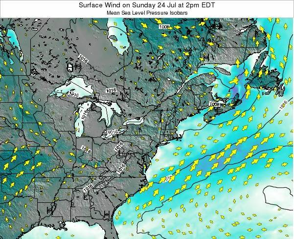 Rhode-Island Surface Wind on Friday 16 Oct at 8am EDT