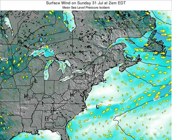 Rhode-Island Surface Wind on Friday 14 Mar at 7pm EST
