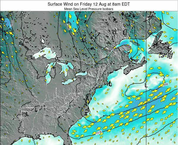Maryland Surface Wind on Wednesday 26 Jun at 8pm EDT