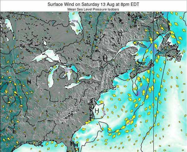 Maryland Surface Wind on Friday 02 May at 2am EDT