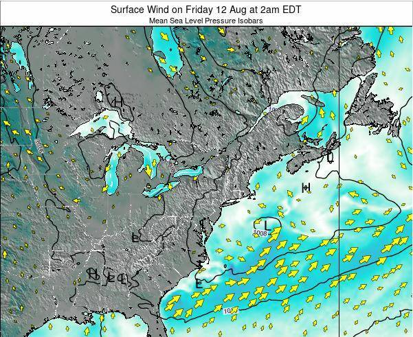 Maryland Surface Wind on Friday 26 Dec at 1am EST