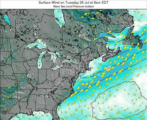 Maryland Surface Wind on Wednesday 22 May at 2am EDT