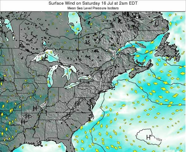 Rhode-Island Surface Wind on Sunday 26 May at 8am EDT map