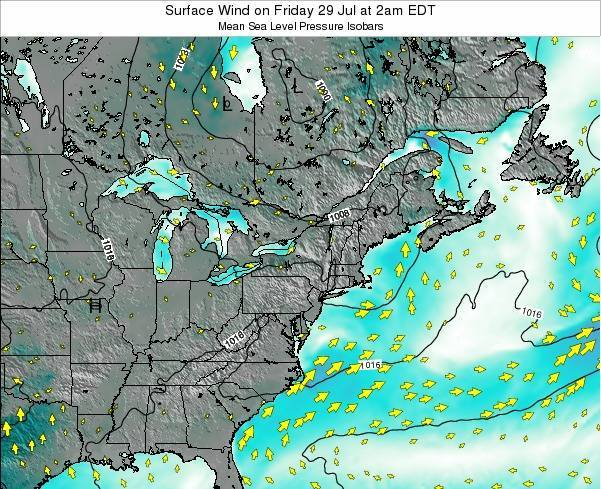 Maryland Surface Wind on Monday 27 May at 2am EDT