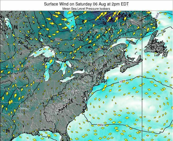 Rhode-Island Surface Wind on Friday 06 Dec at 7pm EST