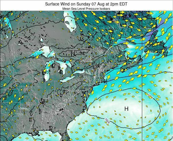 Rhode-Island Surface Wind on Wednesday 30 Jul at 2am EDT