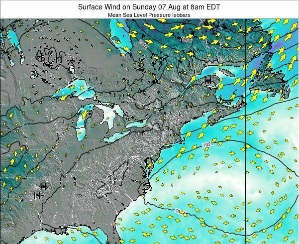 Rhode-Island Surface Wind on Thursday 24 Apr at 8pm EDT