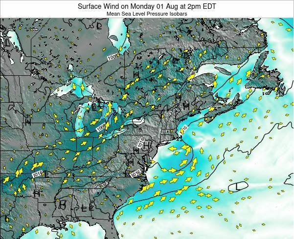 Maryland Surface Wind on Friday 24 May at 2am EDT