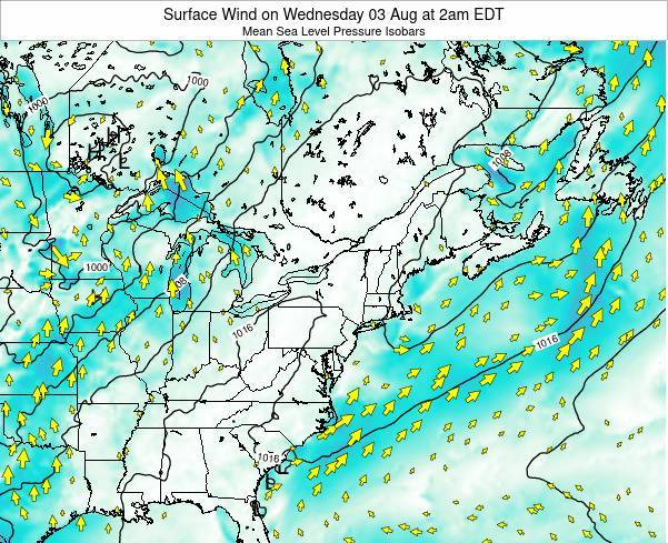 Maryland Surface Wind on Saturday 26 Apr at 8am EDT