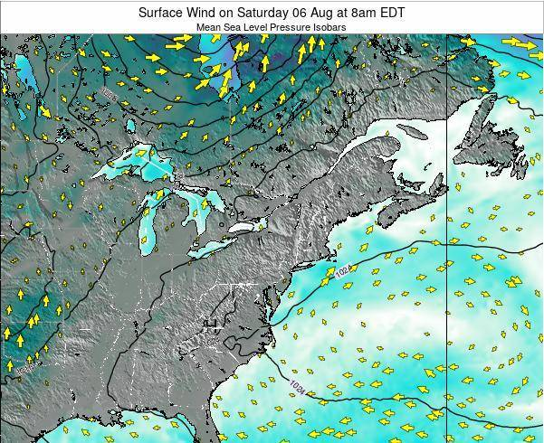Maryland Surface Wind on Sunday 27 Jul at 2pm EDT