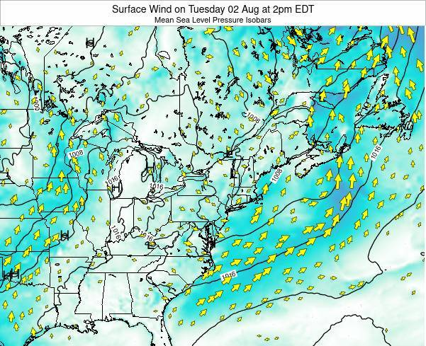 Rhode-Island Surface Wind on Sunday 20 Apr at 2pm EDT