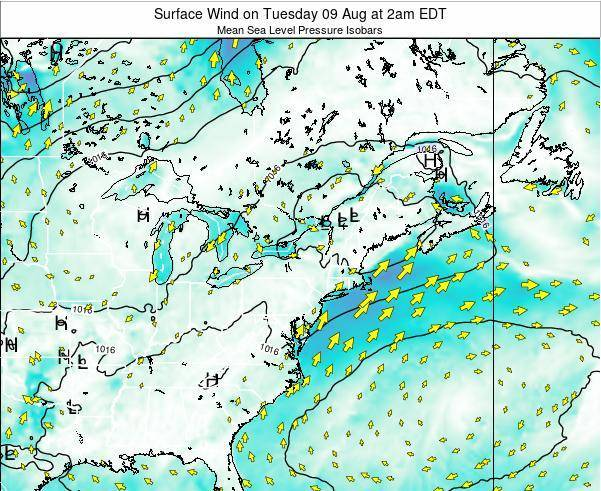 Maryland Surface Wind on Sunday 03 Aug at 2pm EDT