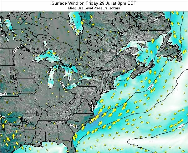Rhode-Island Surface Wind on Wednesday 26 Sep at 8am EDT map