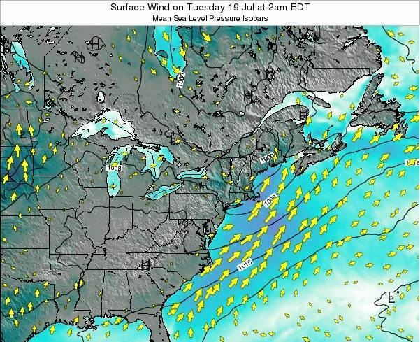 Rhode-Island Surface Wind on Friday 17 Nov at 1pm EST map