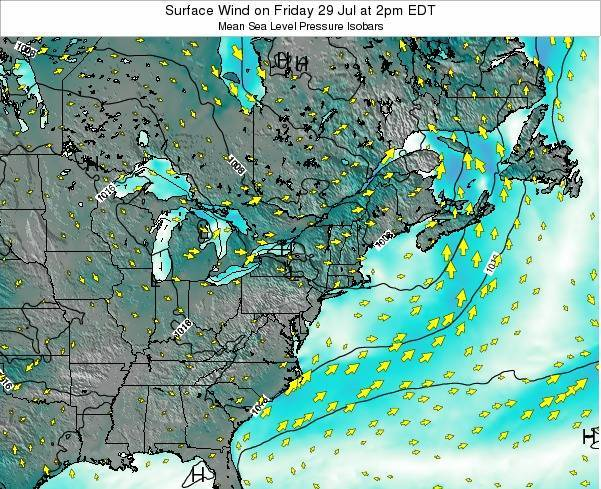 Maryland Surface Wind on Sunday 08 Dec at 1pm EST