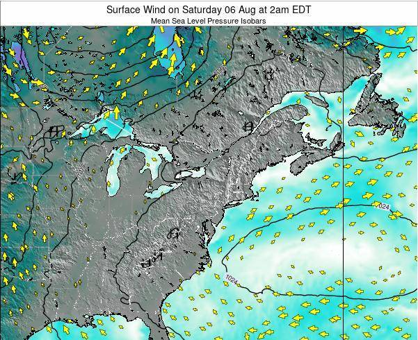 Maryland Surface Wind on Tuesday 22 Jul at 2pm EDT
