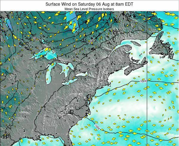 Pennsylvania Surface Wind On Saturday 20 Oct At 8am Edt