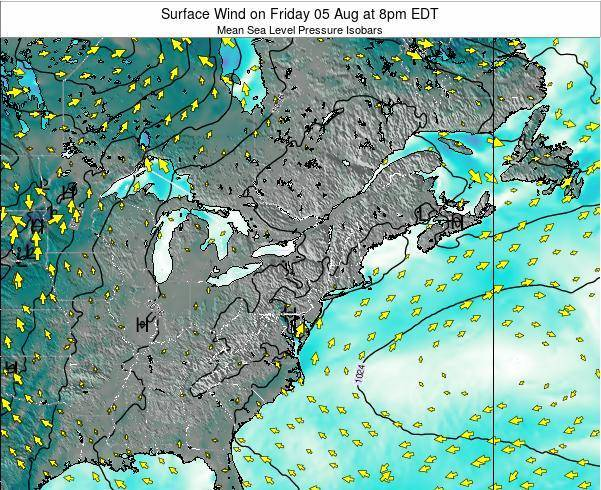 Maryland Surface Wind on Wednesday 23 Apr at 8am EDT