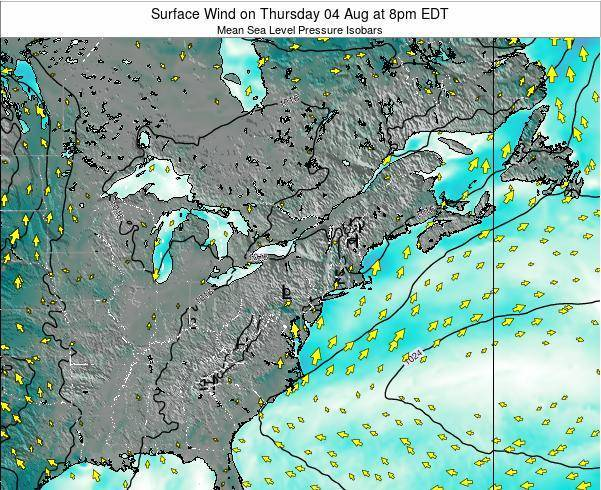 Maryland Surface Wind on Tuesday 29 Jul at 8am EDT