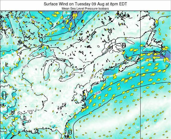 Delaware Surface Wind on Friday 21 Jun at 2pm EDT