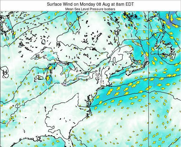 Rhode-Island Surface Wind on Wednesday 22 May at 8am EDT