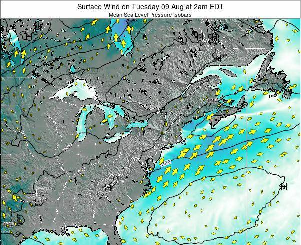 Delaware Surface Wind on Saturday 25 May at 2am EDT