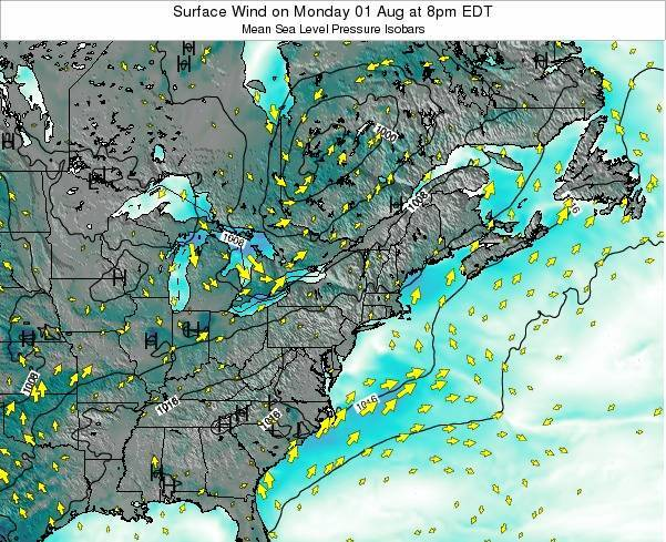 Maryland Surface Wind on Monday 27 May at 2pm EDT